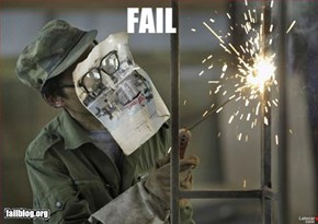 Welding Safety Fail!
