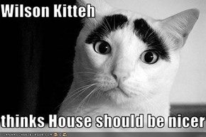 Wilson Kitteh  thinks House should be nicer