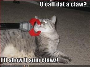 U call dat a claw?  I'll show U sum clawz!