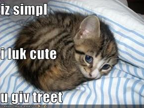 iz simpl i luk cute u giv treet