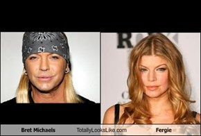 Bret Michaels Totally Looks Like Fergie