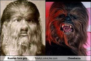 Russian face guy Totally Looks Like Chewbacca