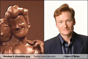 Hershey's chocolate guy Totally Looks Like Conan O'Brien