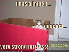 I has a impen... impenet... very strong fortress!