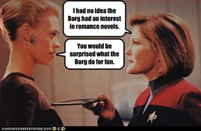 I had no idea the Borg had an interest in romance novels.