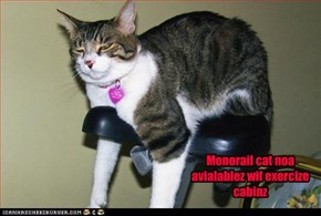 Monorail cat noa avialablez wif exercize cabinz