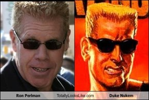 Ron Perlman Totally Looks Like Duke Nukem