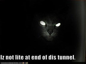 Iz not lite at end of dis tunnel.