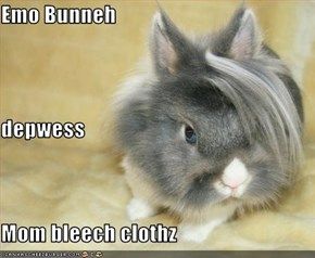 Emo Bunneh depwess Mom bleech clothz