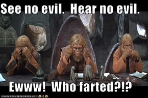 See no evil.  Hear no evil.  Ewww!  Who farted?!?