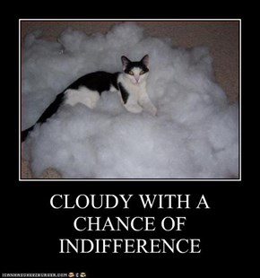 CLOUDY WITH A CHANCE OF INDIFFERENCE