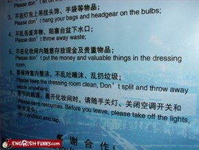 China kindly asks you to perpetuate littering and thievery (4 and 7)