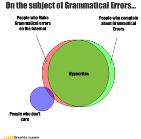 On the subject of Grammatical Errors...