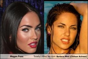 Megan Foxx Totally Looks Like Barbara Mori (Chilean Actress)