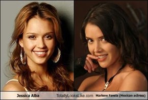 Jessica Alba Totally Looks Like Marlene Favela (Mexican actress)