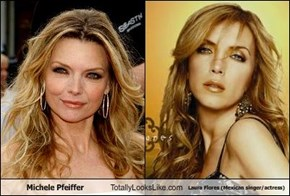 Michele Pfeiffer Totally Looks Like Laura Flores (Mexican singer/actress)