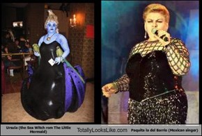 Ursula (the Sea Witch rom The Little Mermaid) Totally Looks Like Paquita la del Barrio (Mexican singer)