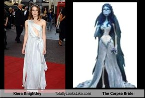 Kiera Knightley Totally Looks Like The Corpse Bride
