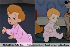 Micheal from Peter Pan Totally Looks Like Baby from Lady and the Tramp