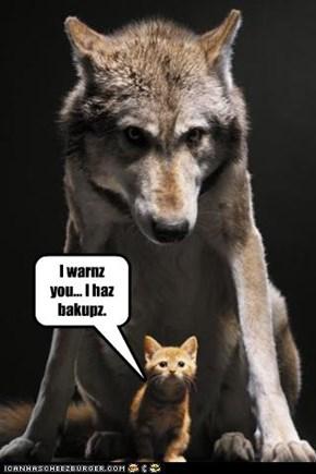 I warnz you... I haz bakupz.