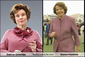 Dolores Umbridge Totally Looks Like Dianne Feinstein