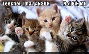 Teecher, I hav ANSUR             No! Pik ME