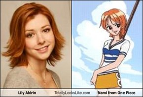 Lily Aldrin Totally Looks Like Nami from One Piece