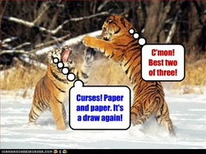 Curses! Paper and paper. It's a draw again!