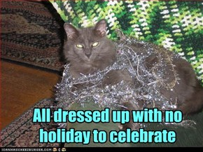 All dressed up with no holiday to celebrate