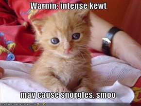 Warnin: intense kewt  may cause snorgles, smoo