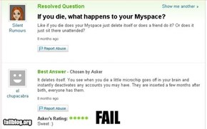 What happens to a myspace page?