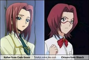 Kallen from Code Geass Totally Looks Like Chizuru from Bleach
