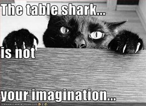 The table shark... is not your imagination...