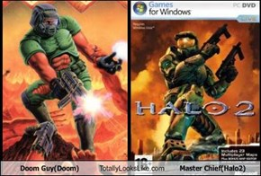 Doom Guy(Doom) Totally Looks Like Master Chief(Halo2)