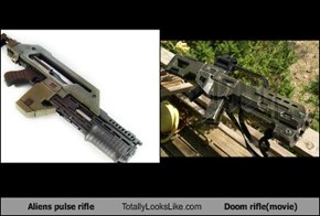 Aliens pulse rifle Totally Looks Like Doom rifle(movie)
