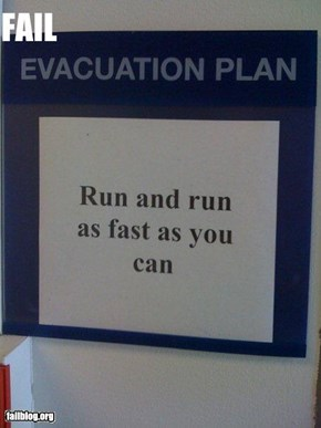 Evacuation fail
