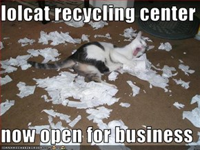 lolcat recycling center  now open for business