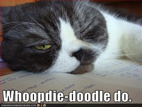 Whoopdie-doodle do.