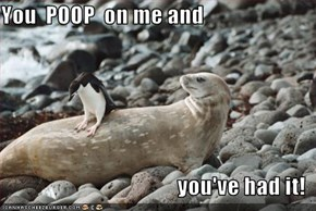 You  POOP  on me and   you've had it!