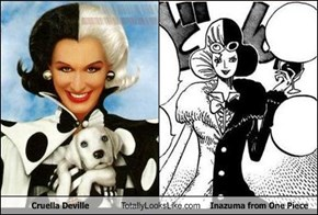 Cruella Deville Totally Looks Like Inazuma from One Piece