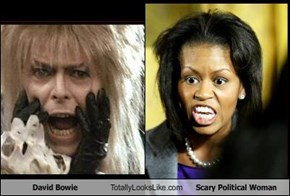 David Bowie Totally Looks Like Scary Political Woman