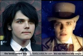 the lovely gerard way Totally Looks Like the non-fabulous billy corgan
