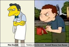 Moe Szyslak Totally Looks Like Randall Weems from Recess