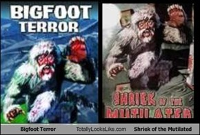Bigfoot Terror Totally Looks Like Shriek of the Mutilated
