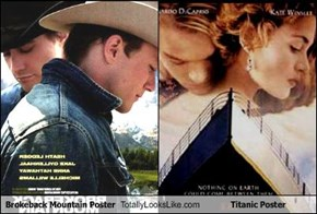 Brokeback Mountain Poster Totally Looks Like Titanic Poster