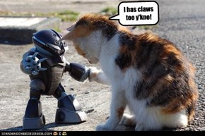 I has claws too y'kno!