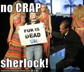 no CRAP  sherlock!