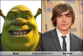Shrek Totally Looks Like Zac Efron