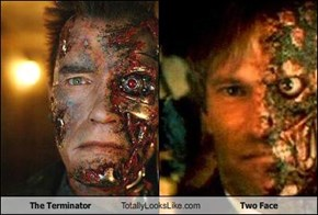 The Terminator Totally Looks Like Two Face
