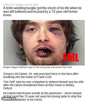 Burglar fail
